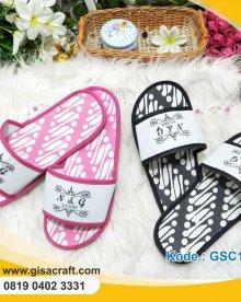 Souvenir Sendal Motif Batik Sablon GSC117