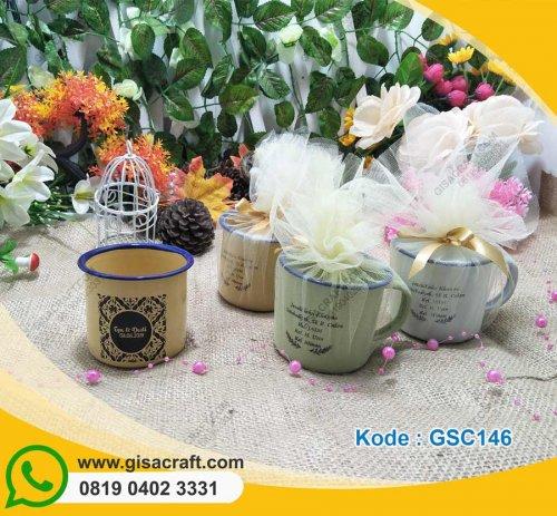 Souvenir Gelas Enamel Kemas Tile Potong GSC146