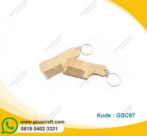 Gantungan Kunci Suri Kayu GSC97